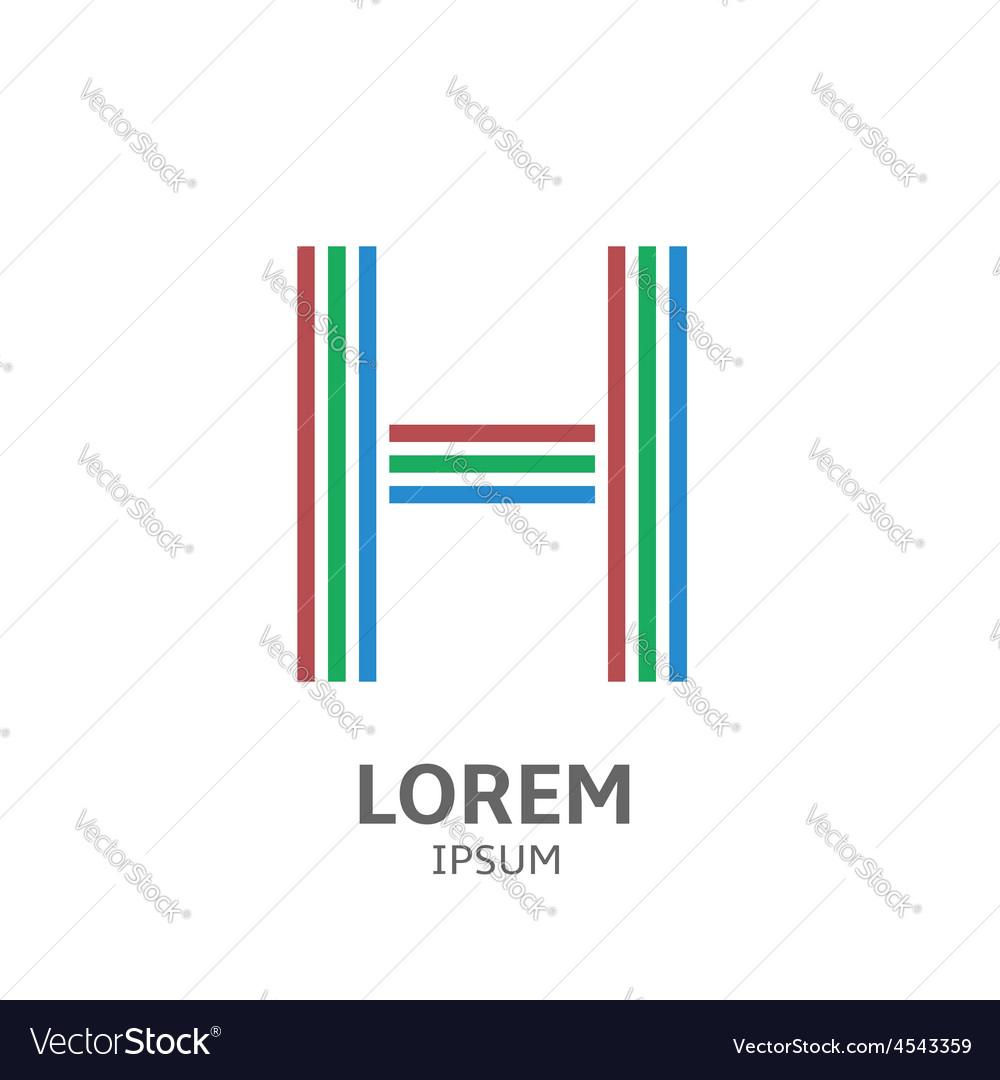 LOREM ipsum H vector image