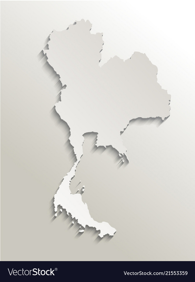 Map of thailand card paper 3d natural