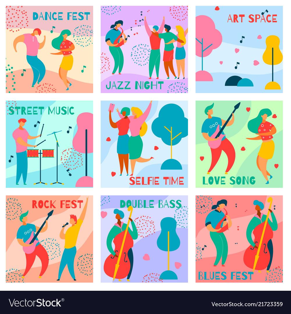 Music fest cards