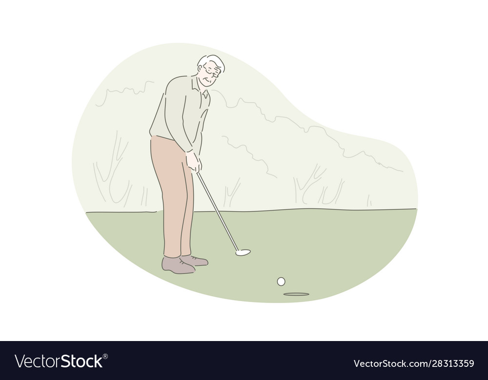 Playing golf active rest outdoor activity