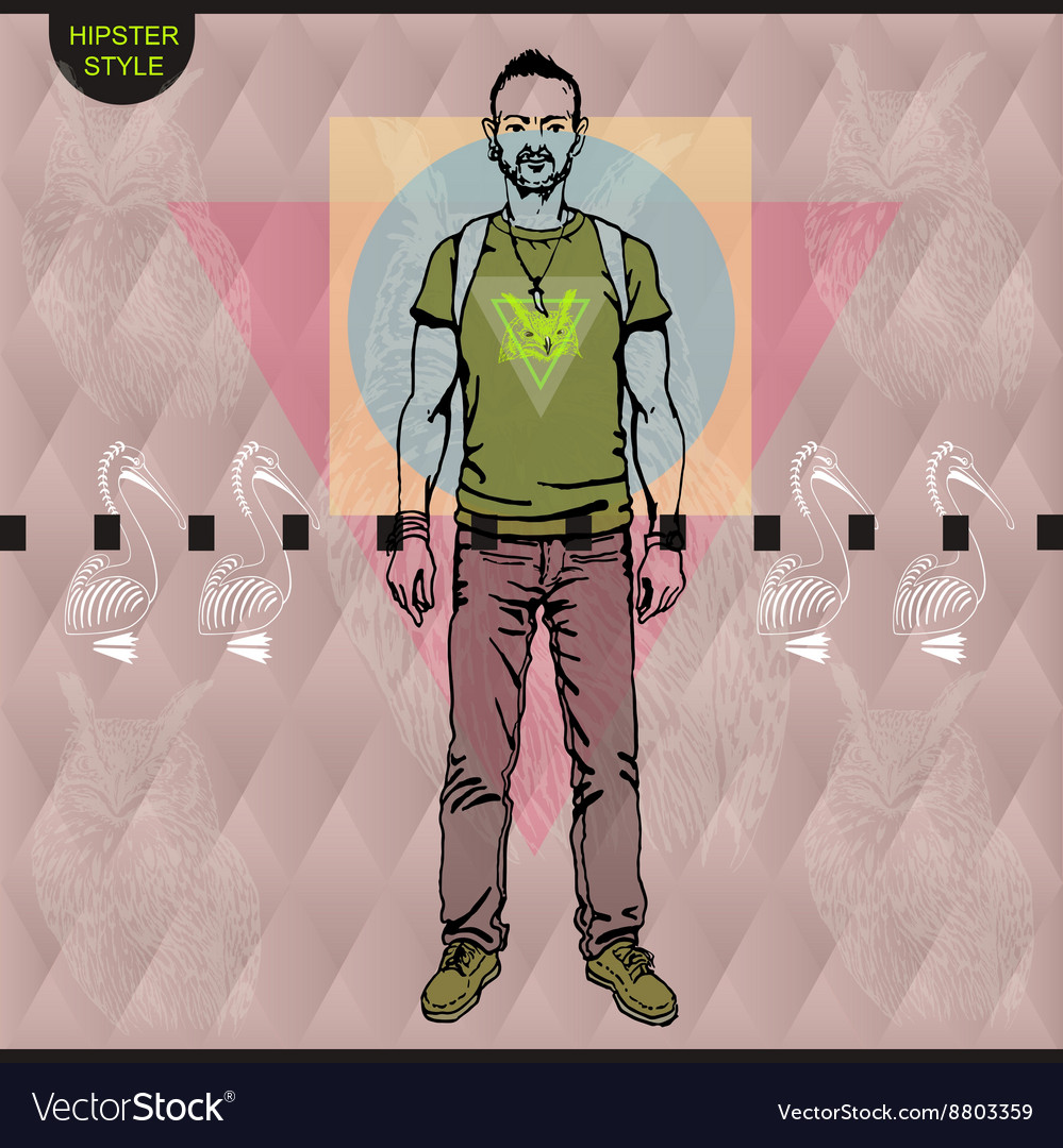 Poster in hipster style Hand drawn vector image