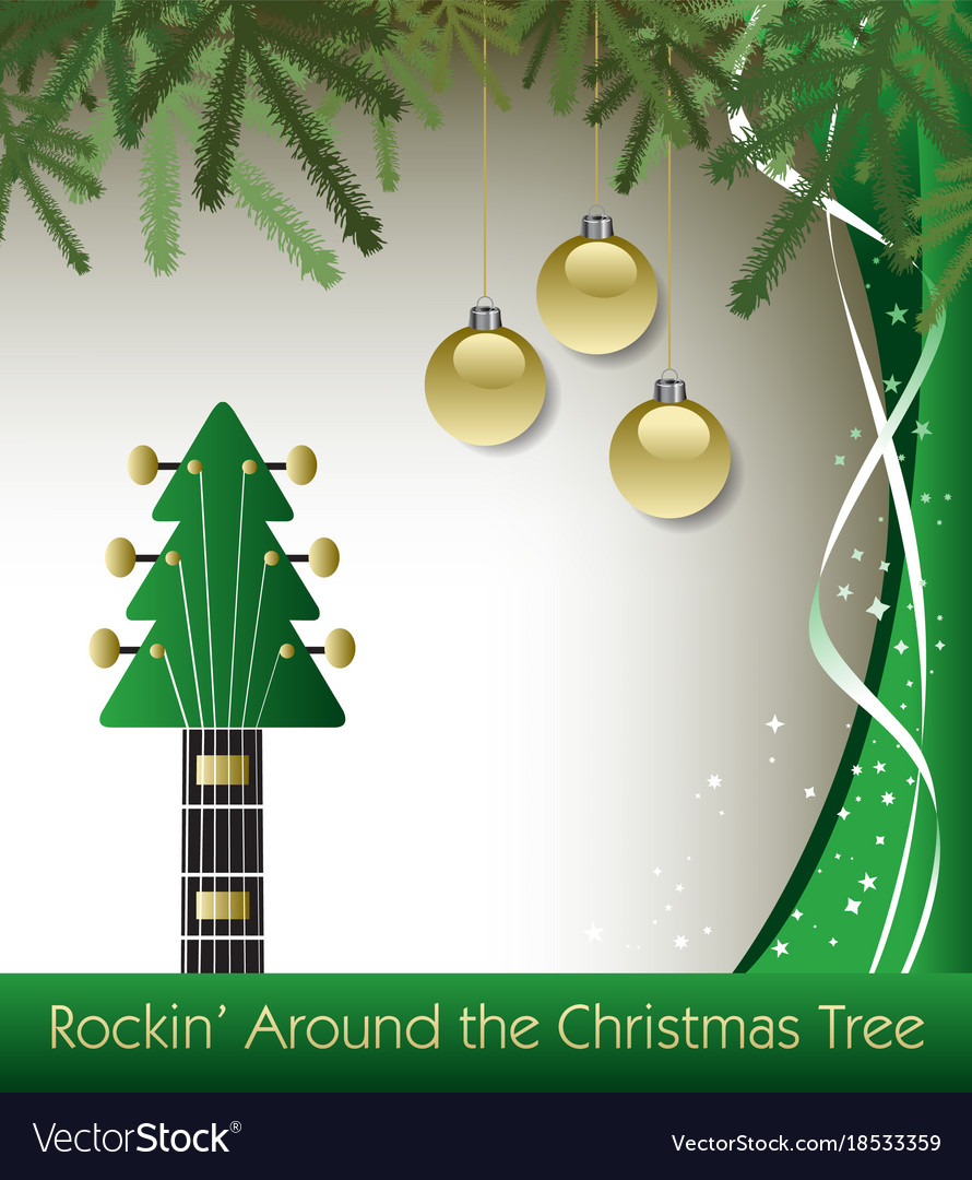 Rockin Around The Christmas Tree Guitar Background