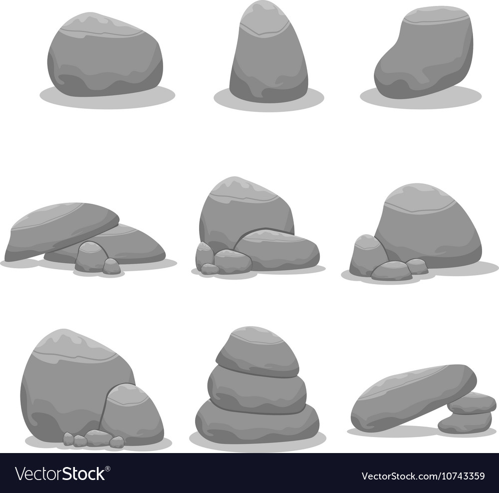 Stone element set doodles