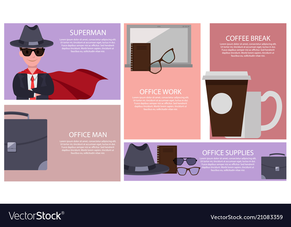 Superman and office supplies
