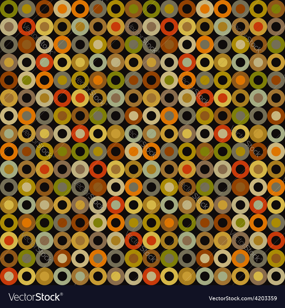 Vintage seamless background round elements dots