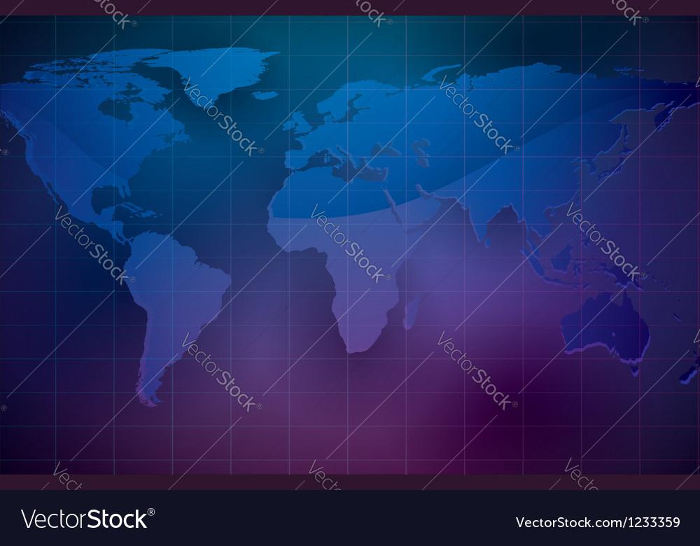 World map on dark color background