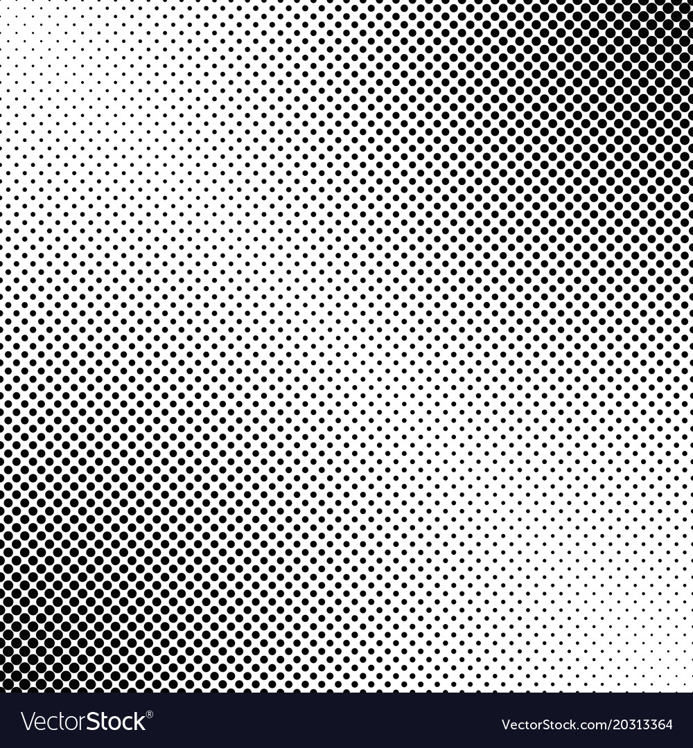 Abstract geometrical halftone dot pattern vector image
