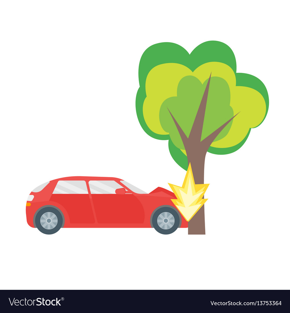 cartoon car crash road accident royalty free vector image rh vectorstock com cartoon car crash sound effect cartoon car crash pictures