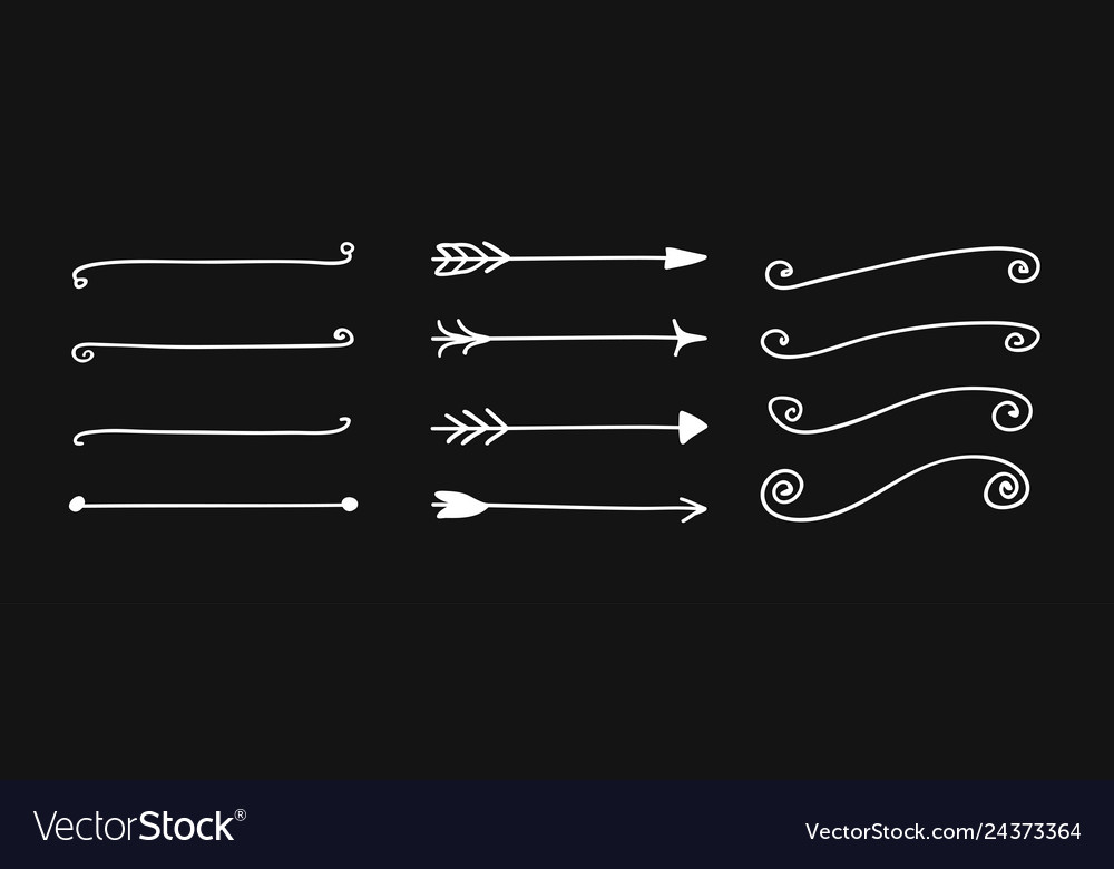 Hand drawn set of objects for design use white