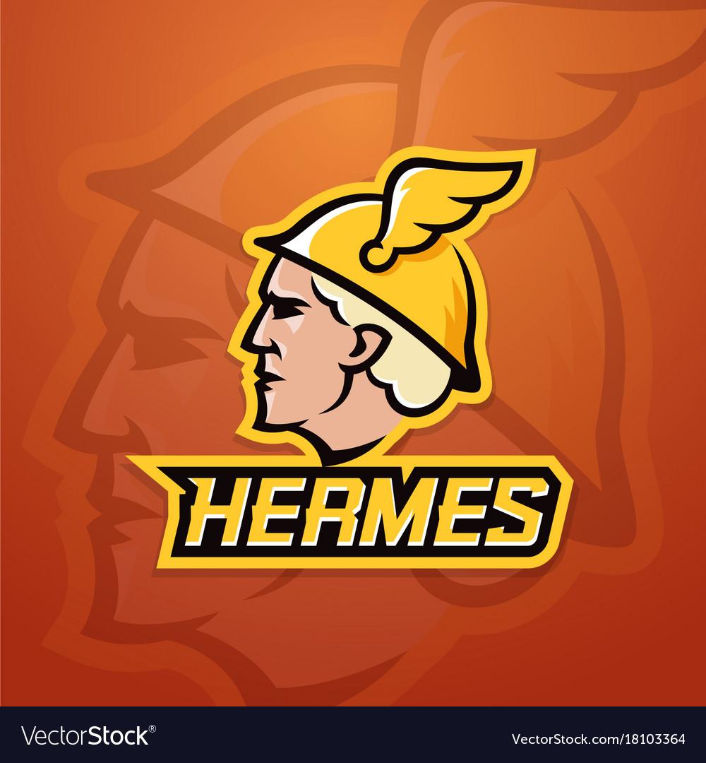 66fa6b8a160 Hermes abstract team logo emblem or sign Vector Image