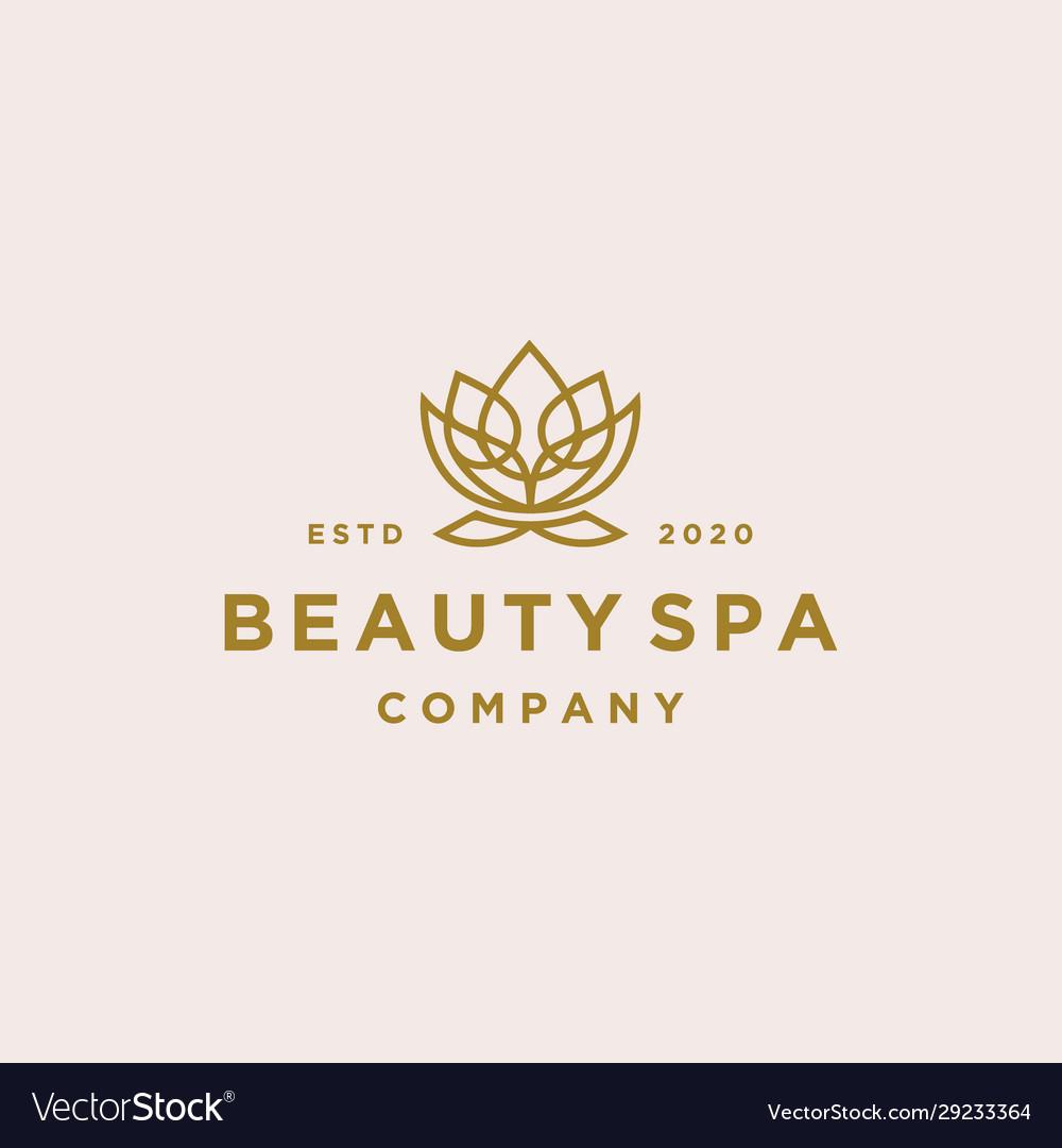 Lotus flower logo beauty spa salon cosmetics