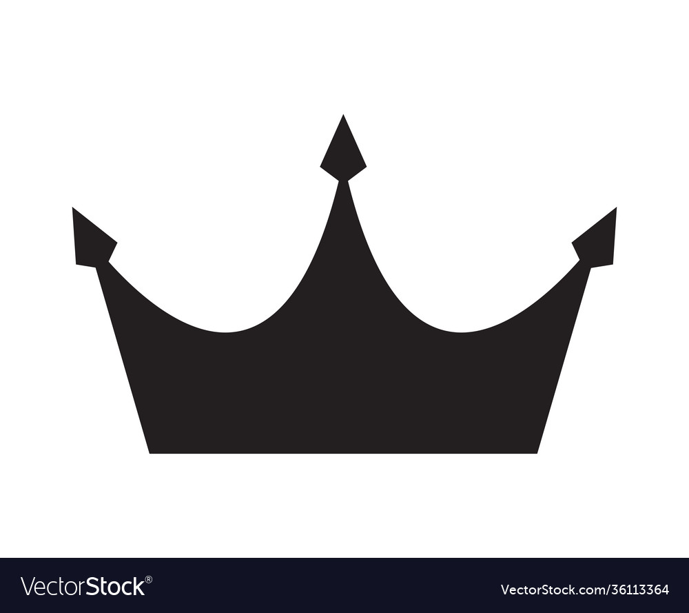 Simple black crown icon eps10