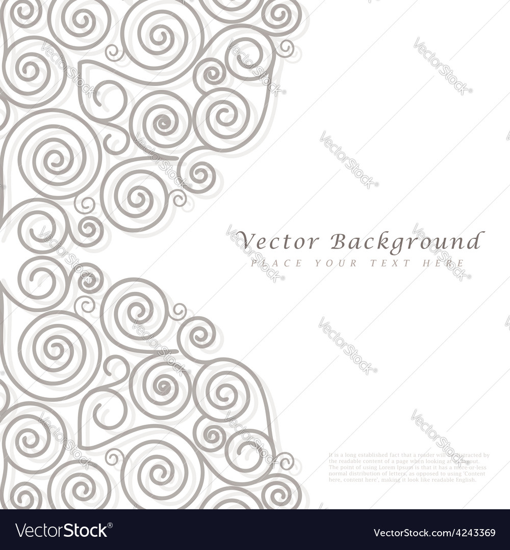 Abstract background with curls