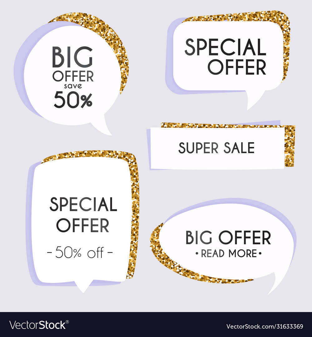 Collection golden premium promo sealsstickers
