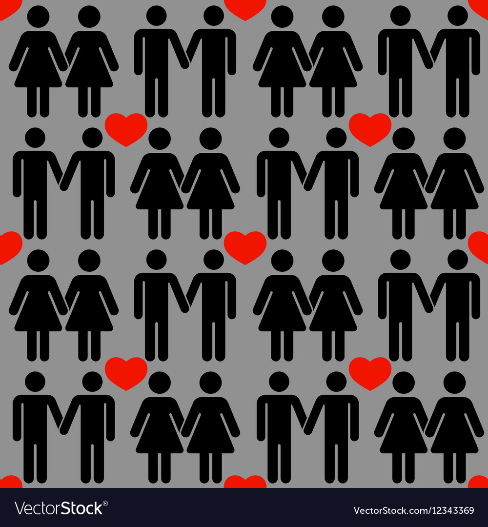 Gay LGBT seamless pattern