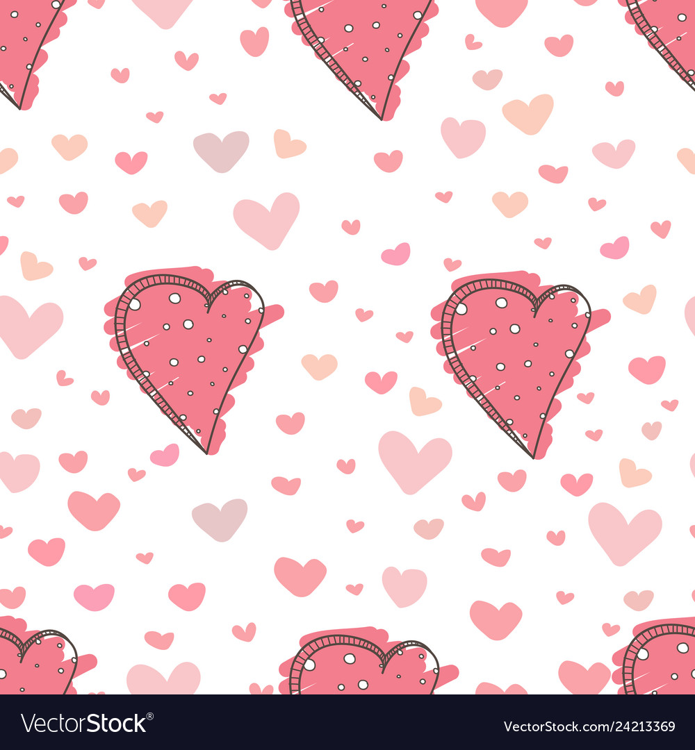 Heart abstract pattern background love doodle