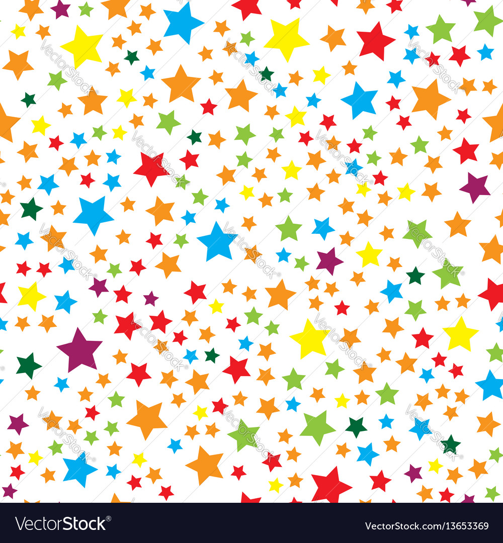 Seamless pattern with colorful stars Royalty Free Vector
