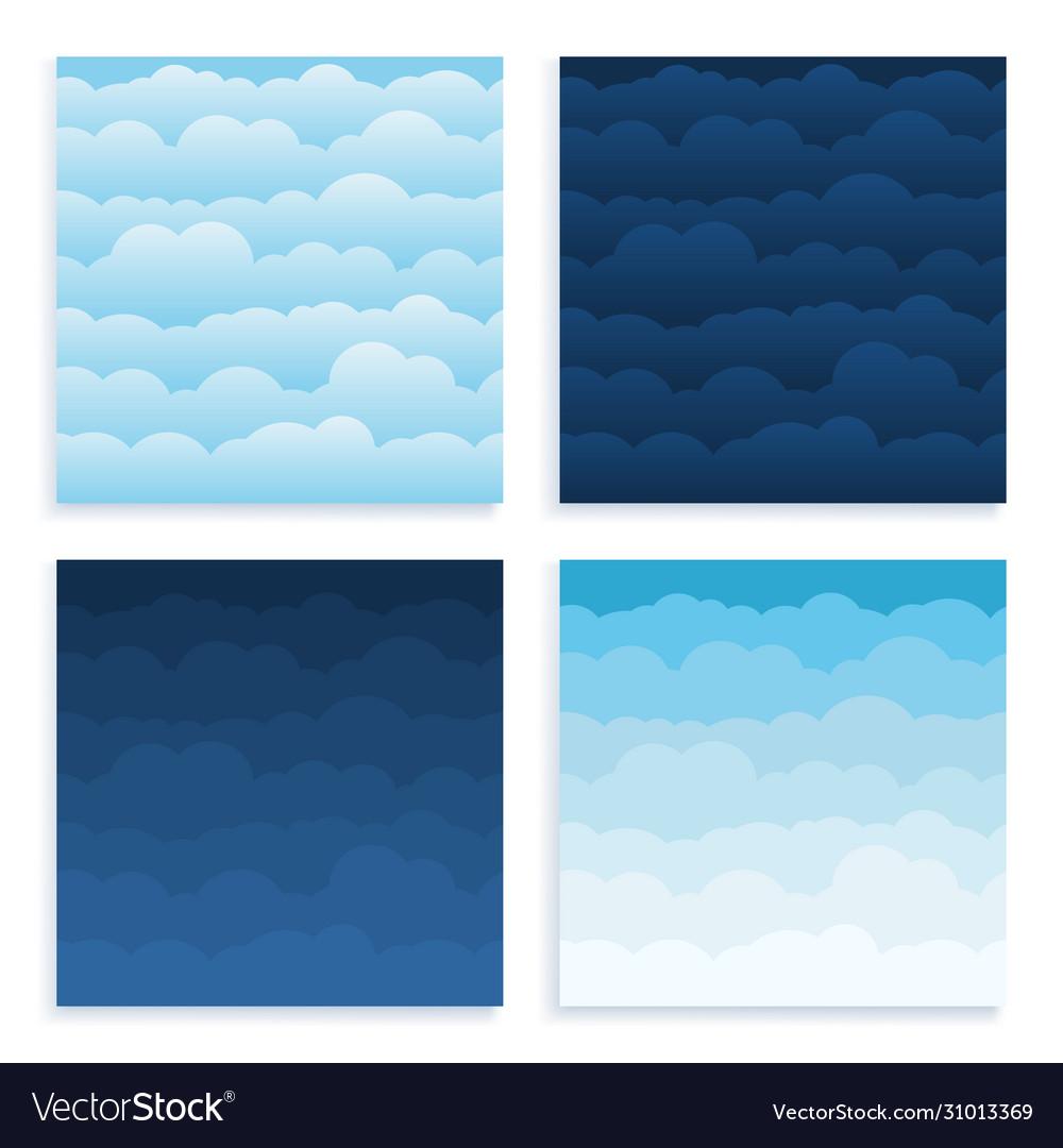 Set cloud sky cartoon background blue sky