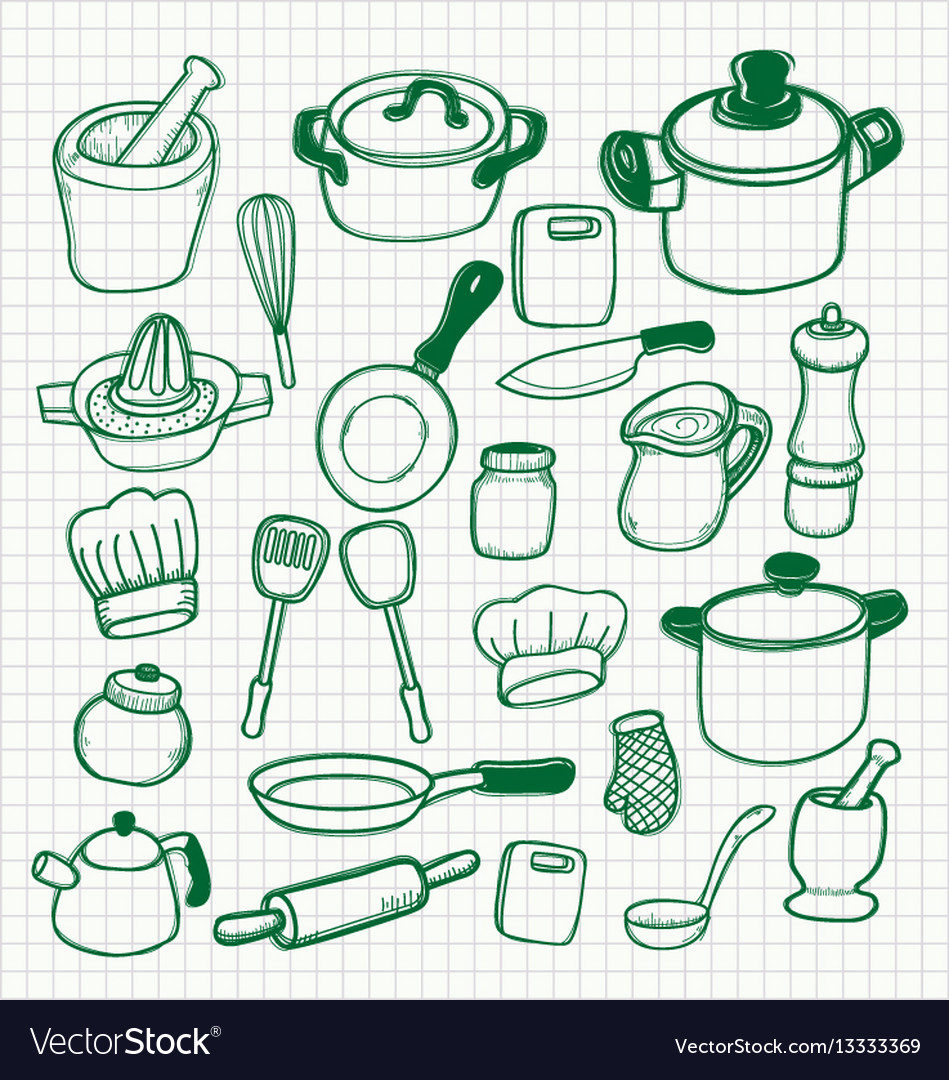 Set of kitchen utensils