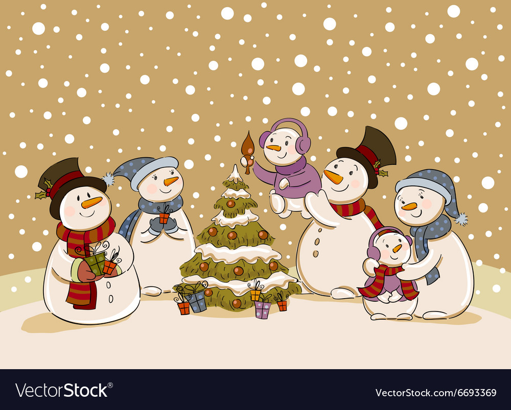 Snowman holiday party