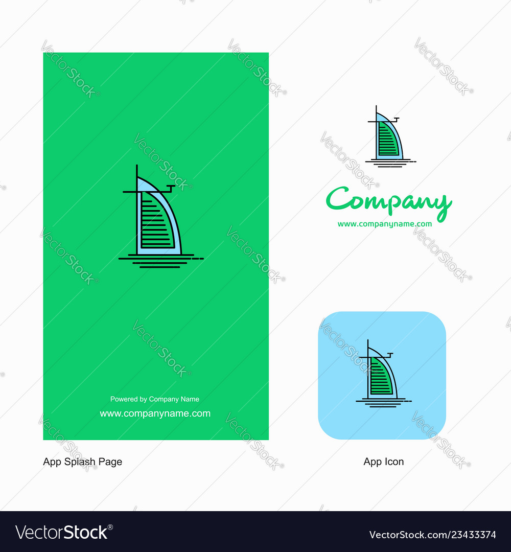 Dubai hotel company logo app icon and splash page