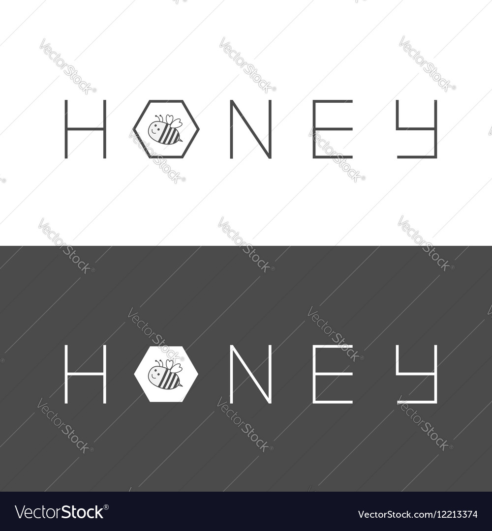 Honeycomb banner set Bee insect animal Beehive vector image
