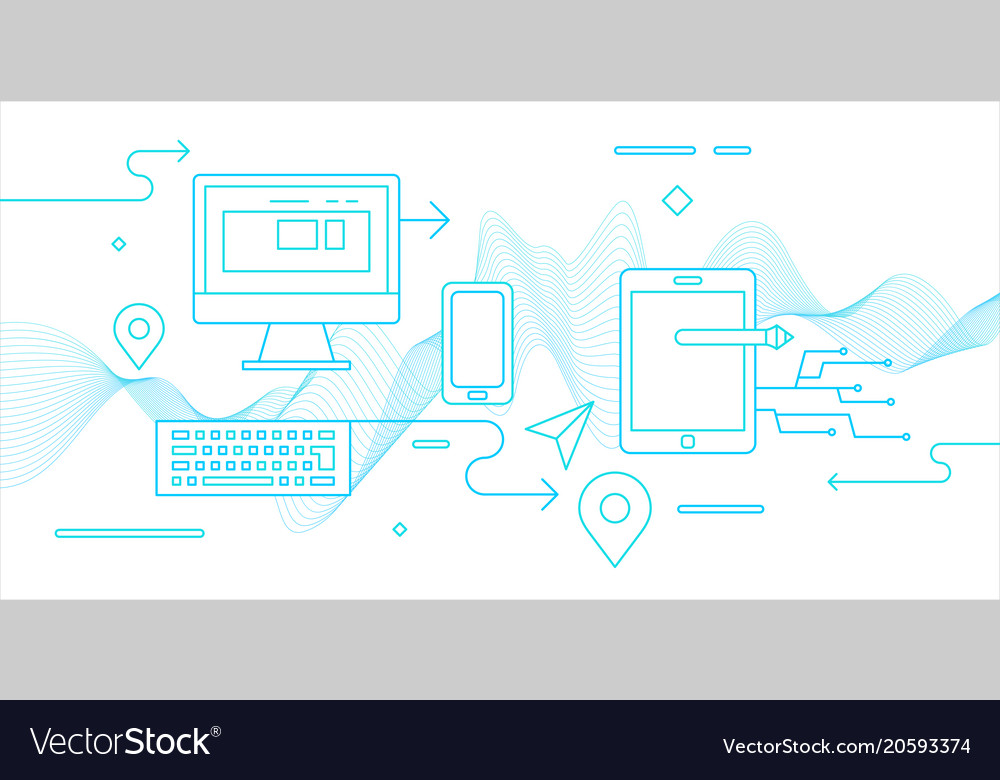 Modern flat electronic devices vector image