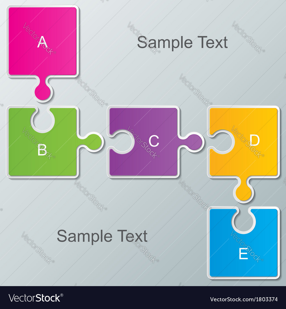 Paper infographic background vector image