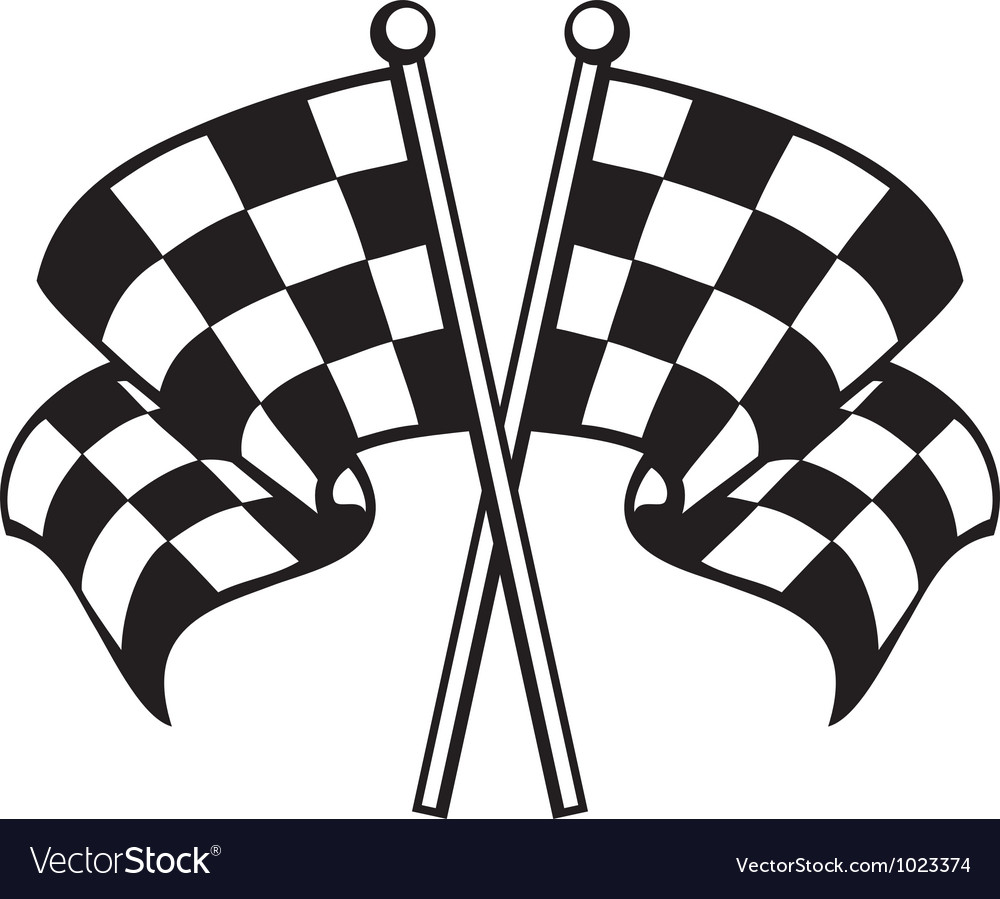 two crossed checkered flags royalty free vector image rh vectorstock com car racing flag vector racing flag vector png
