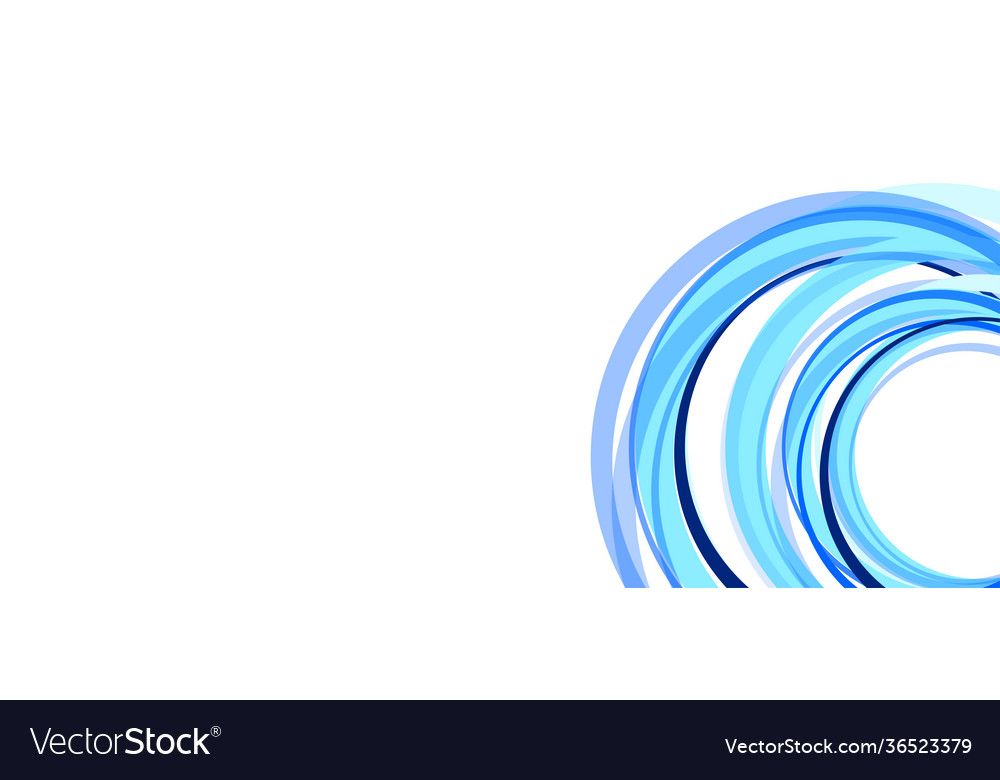 Abstract circles and waves on white vector