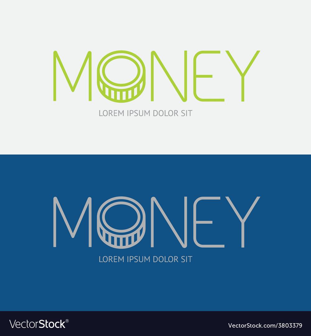 Alphabet design money business concept
