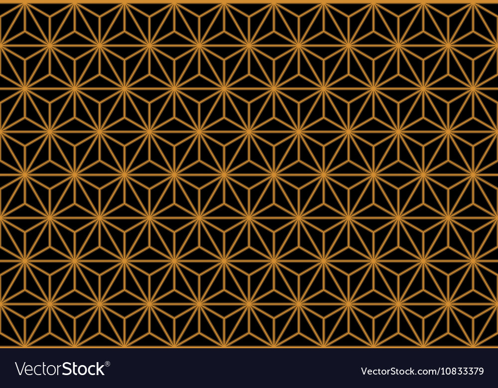 Art Deco Monochrome Gold Seamless Wallpaper or