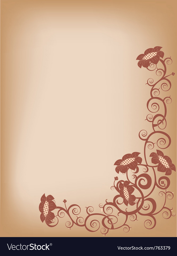 Brown flower vector image