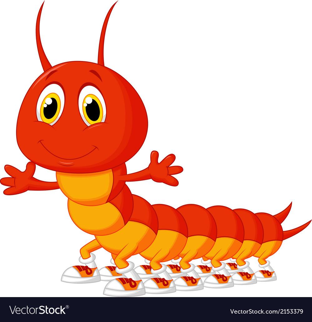 Cute Centipede Cartoon Royalty Free Vector Image