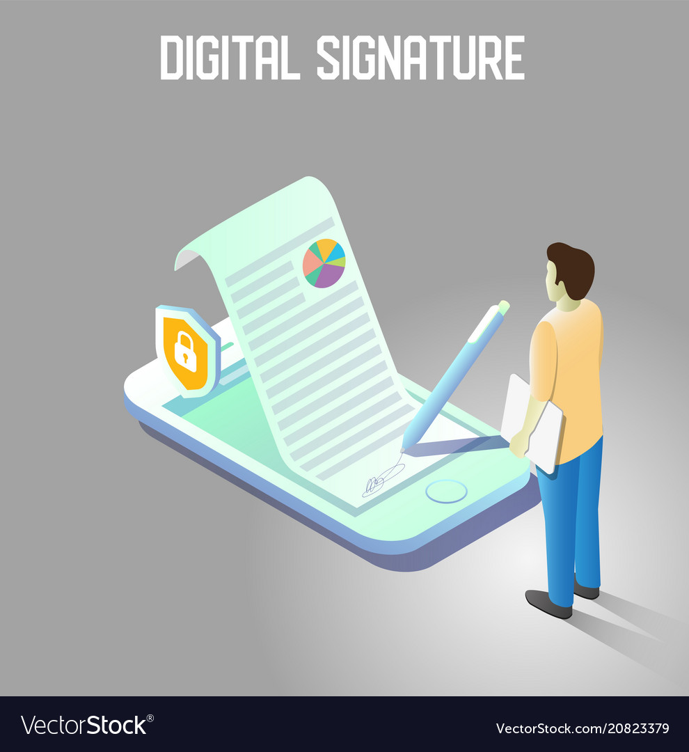 Digital signature isometric