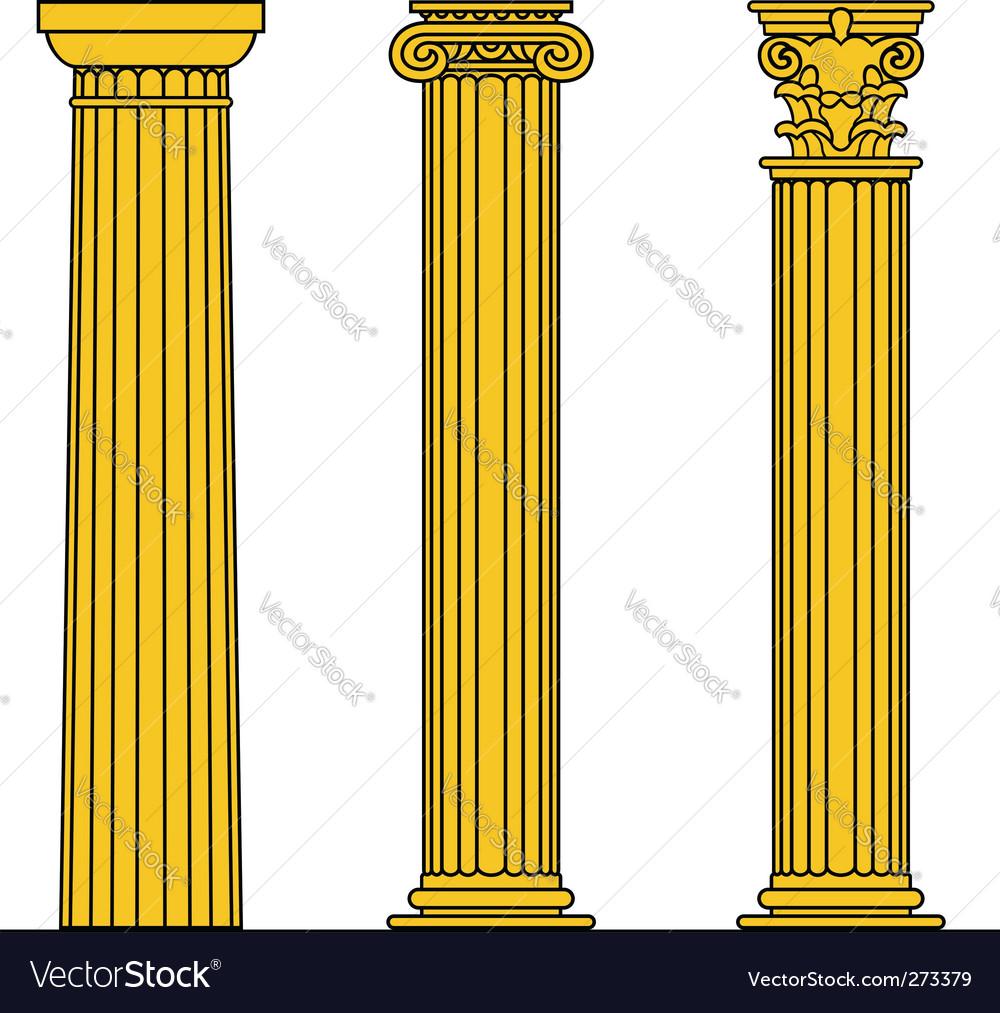 doric ionic and corinthian columns