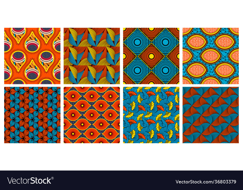 Ethnic wax textile pattern african abstract wax