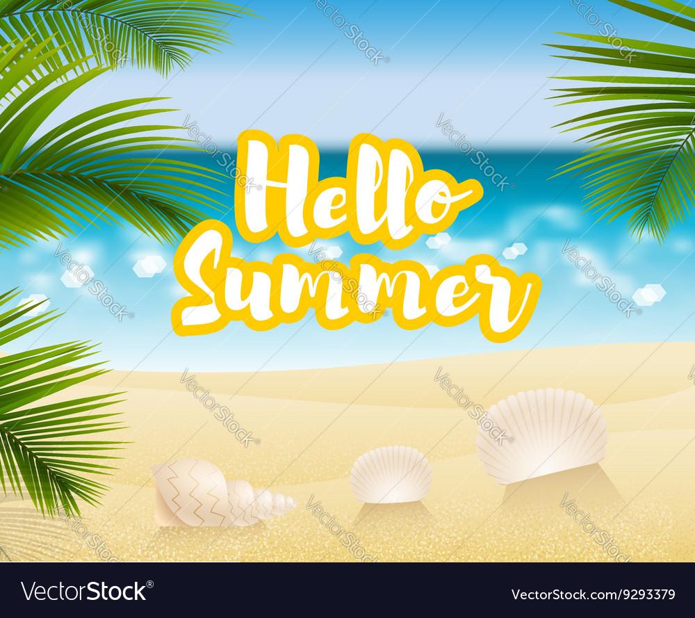Hello summer Sandy beach cost