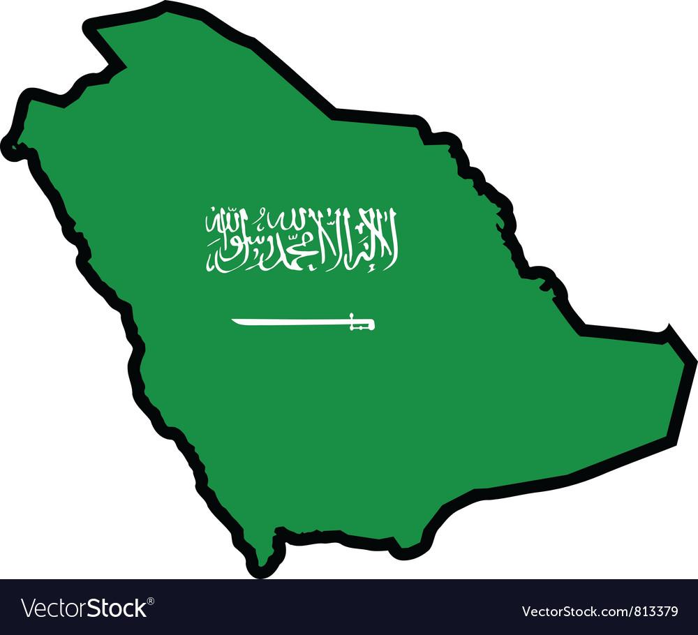 Map in colors of Saudi Arabia Royalty Free Vector Image