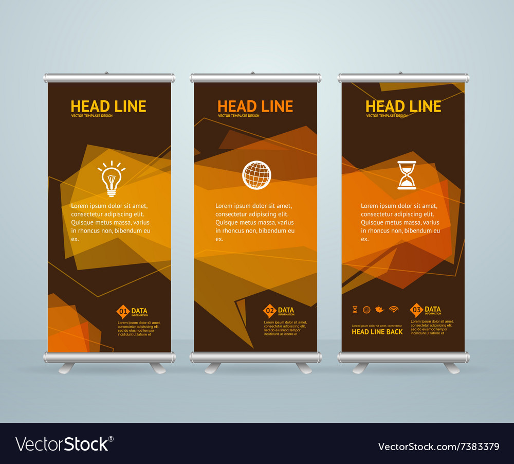 Roll up banner stand design template