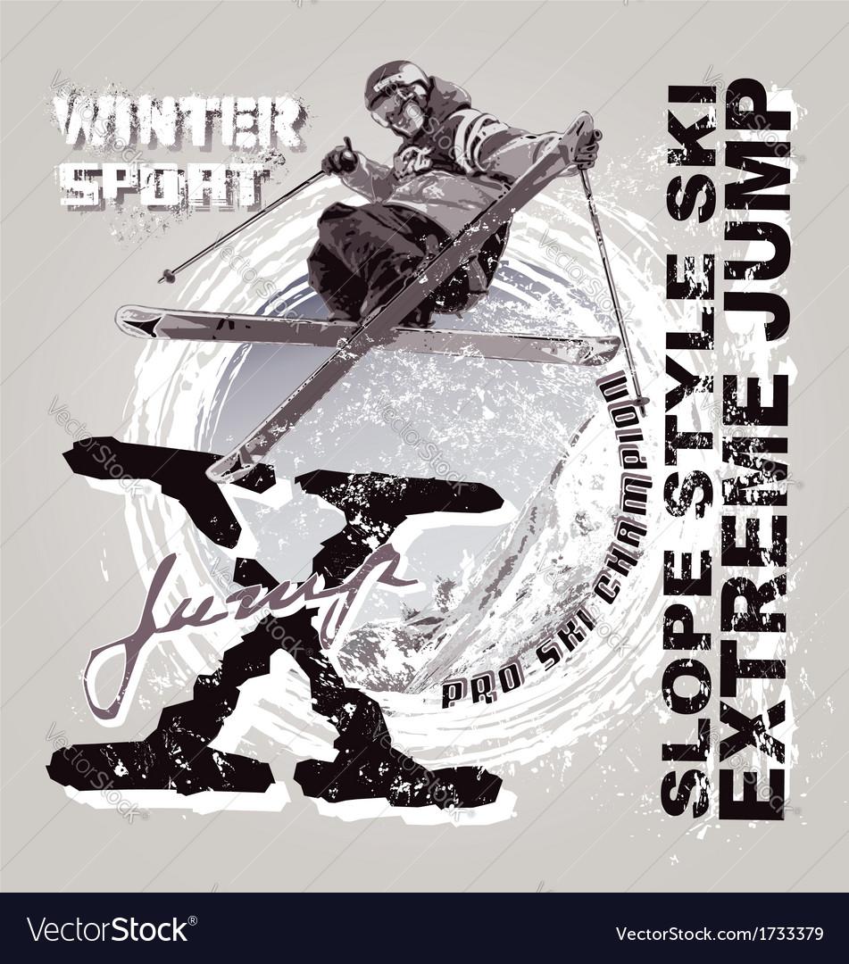 Sky slope style extreme jump