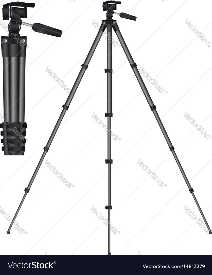 Tripod for camera vector image