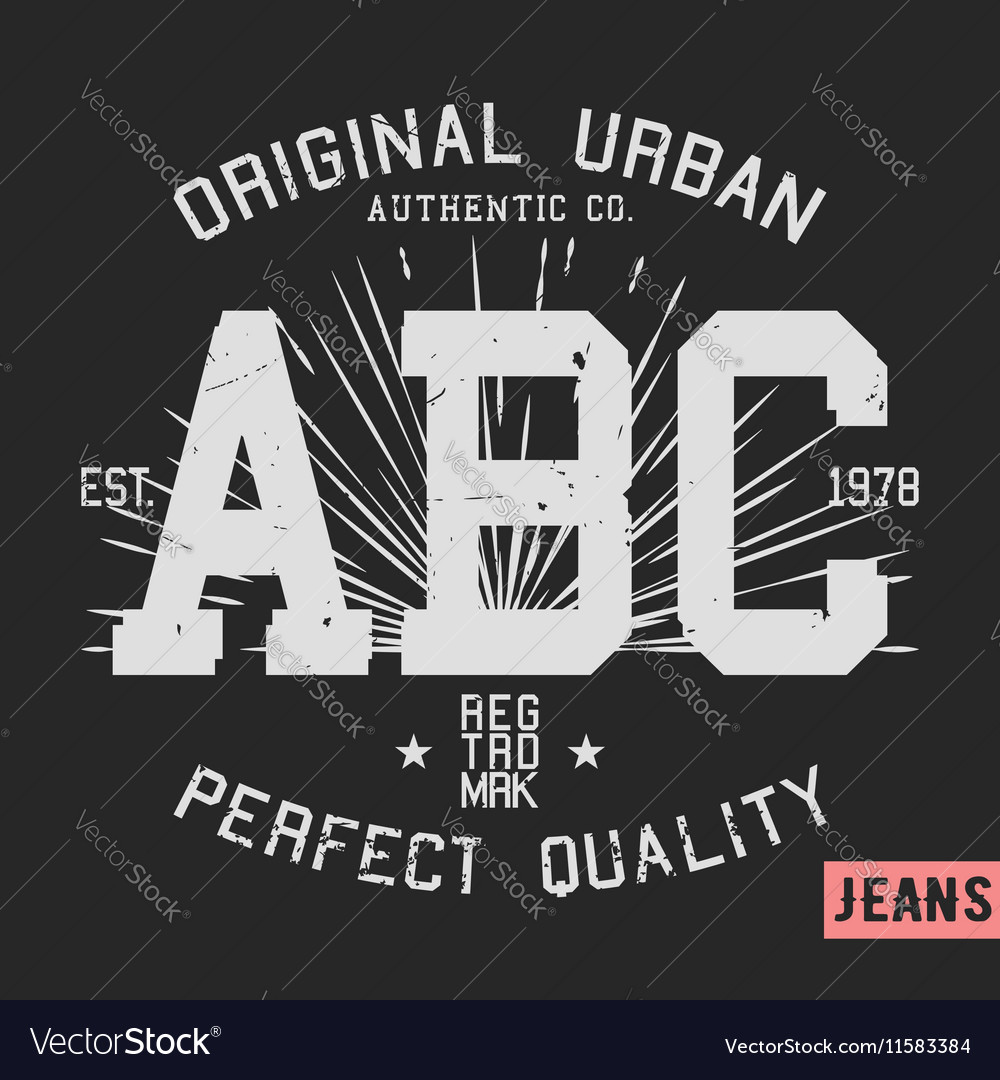 ABC vintage stamp