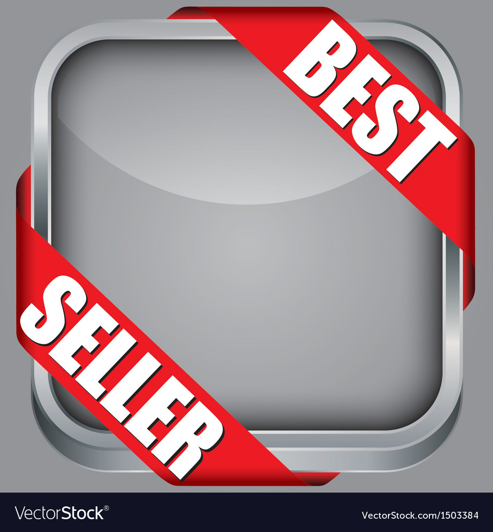 Blank app icon with best seller ribbon
