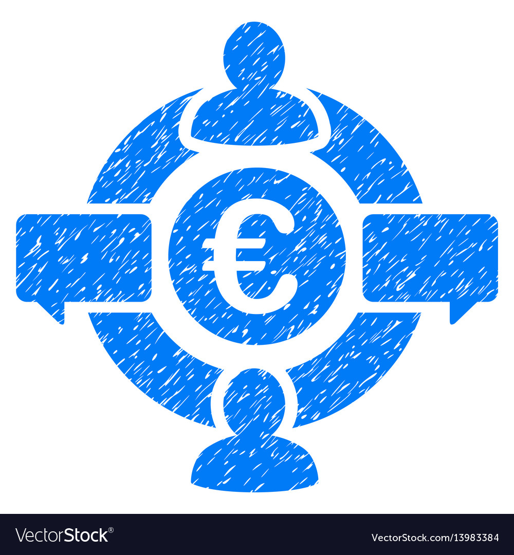 Euro social network icon grunge watermark vector image on VectorStock