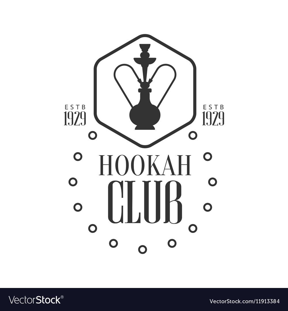 Hookah In Hexagon Frame Premium Quality Smoking Vector Image