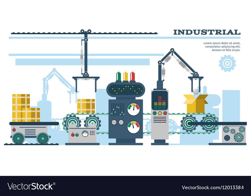 Industrial conveyor belt line