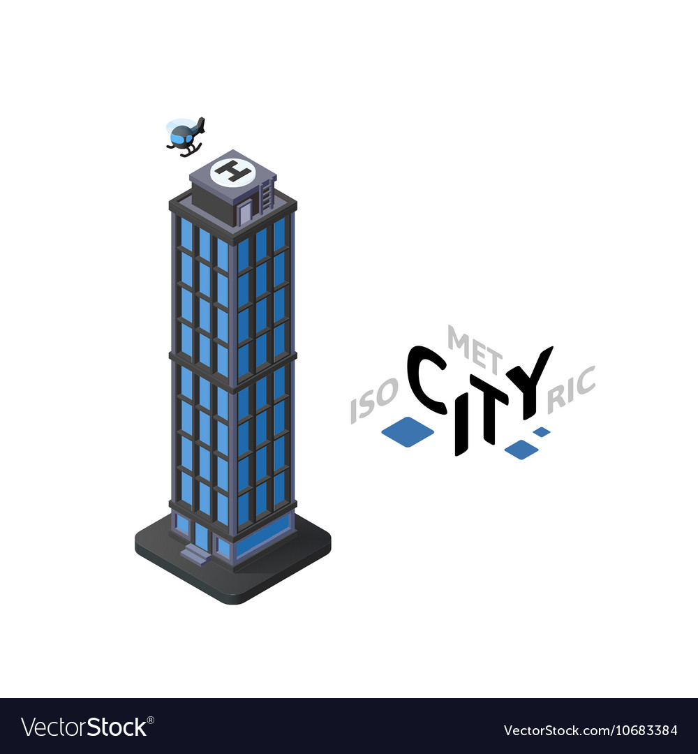 Isometric skyscraper icon building city