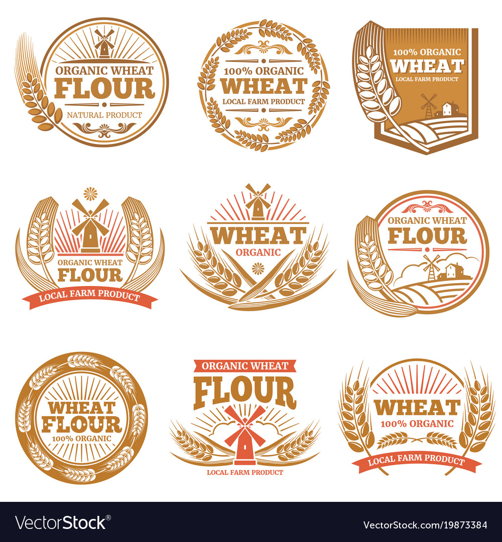 Organic wheat flour farming grain products