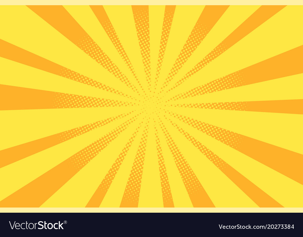 Retro pop art background vector image